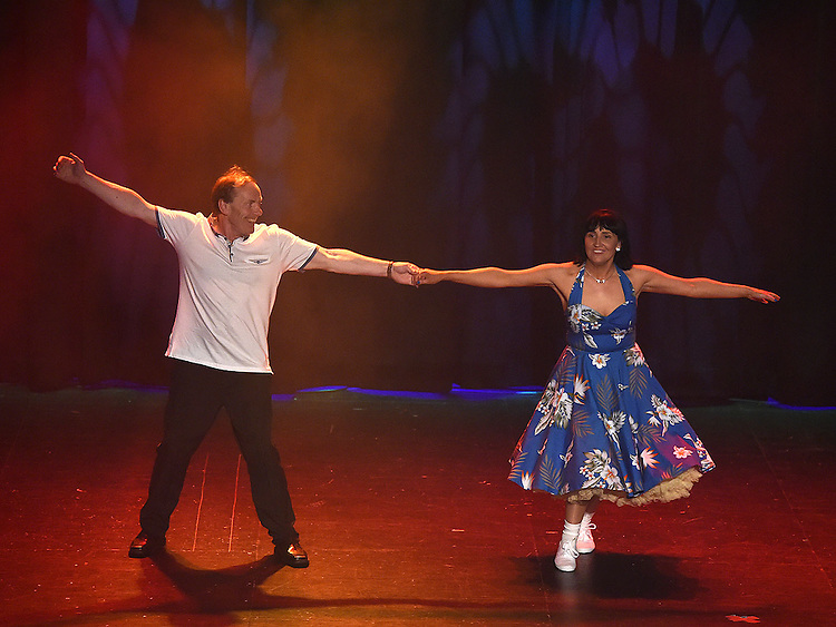 Eddie Caffrey and Caroline Hoey who took part in the Naomh Fionnbarra Strictly Come Dancing in the TLT. Photo:Colin Bell/pressphotos.ie