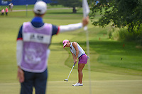 I.K. Kim (KOR) watches her putt on 10 during round 4 of the 2018 KPMG Women's PGA Championship, Kemper Lakes Golf Club, at Kildeer, Illinois, USA. 7/1/2018.<br /> Picture: Golffile | Ken Murray<br /> <br /> All photo usage must carry mandatory copyright credit (&copy; Golffile | Ken Murray)