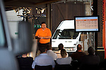 Photo: © Martin Beddall 5-7-06.VW Crafter van presentation day at Dover. Introducing the new van to Uk dealers and their customers as part of a roadshow around the UK..A presentation evaluating the Crafter against it's competitors.