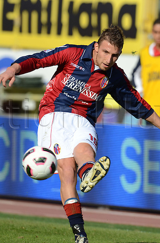 Matteo Rubin (Bologna), MARCH 6, 2011 - Football : Italian  Series A  match between Bologna 2-2 Cagliari at Renato Dall'Ara Stadium in Bologna, Italy.