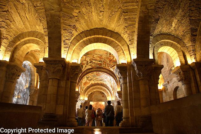 Interior of Panteon Real, San Isidoro Church, Leon, Spain
