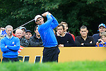 Padraig Harrington tees off during Practice Day 2 at the 2010 Ryder Cup at the Celtic Manor Twenty Ten Course, Newport, Wales, 29th September 2010..(Picture Eoin Clarke/www.golffile.ie)