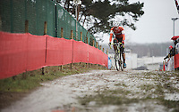 Jens Dekker (NLD) in the lead (and on his way to becoming World Champion)<br /> <br /> Junior Men's race<br /> UCI 2016 cyclocross World Championships