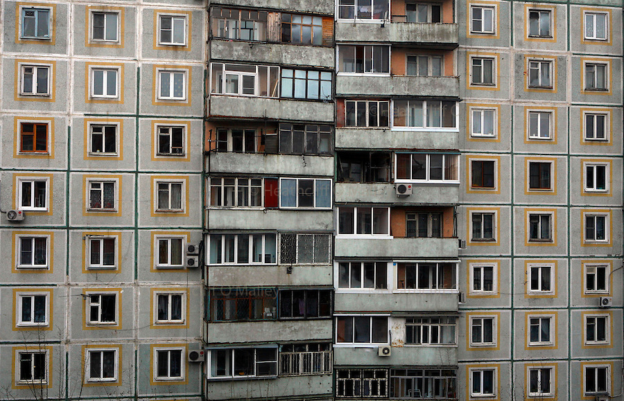 "Photo by Heathcliff Omalley..A ""Khrushchevka"" apartment block in the centre of the city of Khabarovsk in Far Eastern Russia ."