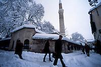 Sarajevo / Bosnia 1995. Veduta invernale di Sarajevo durante l'assedio. Winter view of Sarajevo during the siege.<br /> Photo Livio Senigalliesi