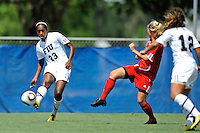 26 September 2010:  FIU's Kelsey Rene (23) passes the ball in the second half as the FIU Golden Panthers defeated the Arkansas State Red Wolves, 1-0 in double overtime, at University Park Stadium in Miami, Florida.