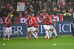 12.01.2018, BayArena, Leverkusen , GER, 1.FBL., Bayer 04 Leverkusen vs. FC Bayern M&uuml;nchen<br /> im Bild / picture shows: <br /> die Bayern beim Aufwaermen, Einzelaktion,  <br /> <br /> <br /> Foto &copy; nordphoto / Meuter