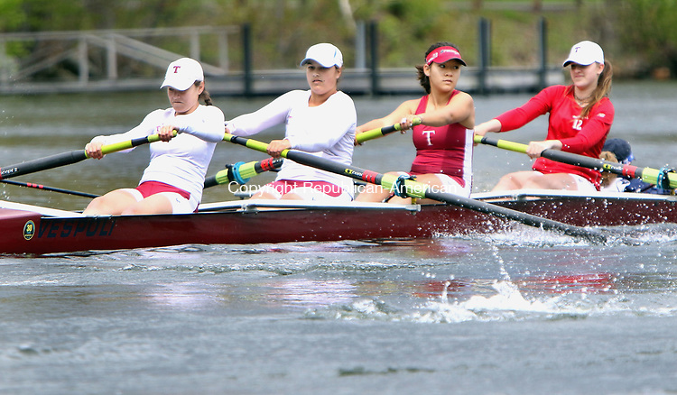 NEW PRESTON CT. 06 May 2017-050717SV03-Taft School from Watertown competes in a race during the 58th annual Founder's Day Regatta at Lake Waramaug in New Preston Sunday.<br /> Steven Valenti Republican-American