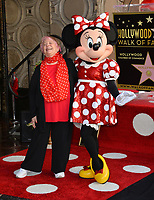 Minnie Mouse & Russi Taylor at the Hollywood Walk of Fame Star Ceremony honoring Disney character Minnie Mouse, Los Angeles, USA 22 Jan. 2018<br /> Picture: Paul Smith/Featureflash/SilverHub 0208 004 5359 sales@silverhubmedia.com