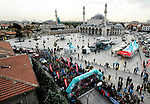 Ready to start Stage 1 of the 54th Presidential Tour of Turkey 2018, running 150km from Konya to Konya, Turkey. 9th October 2018.<br /> Picture: Brian Hodes/VeloImages | Cyclefile<br /> <br /> <br /> All photos usage must carry mandatory copyright credit (© Cyclefile | Brian Hodes/VeloImages)