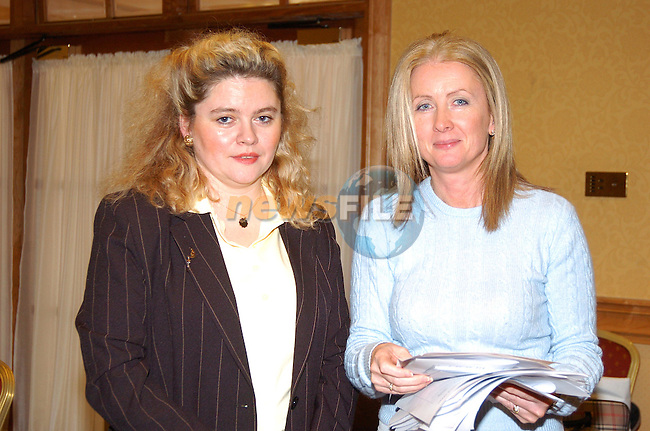 Caroline Murtagh Finance Adminastrator and AnnMarie Regan facilator at teh IGP conference in Johnstown House..Photo Fran Caffrey Newsfile.ie..This Picture has been sent to you by Newsfile Ltd..The Studio,.Millmount Abbey,.Drogheda,.Co. Meath,.Ireland..Tel: +353(0)41-9871240.Fax: +353(0)41-9871260.ISDN: +353(0)41-9871010.www.newsfile.ie..general email: pictures@newsfile.ie