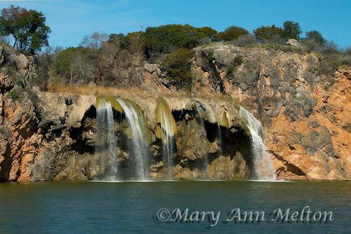 Winter view of Fall Creek Falls, Lake Buchanan, Texas, Vanishing River Cruise