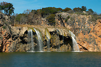 Winter view of Fall Creek Falls, Lake Buchanan, Texas, Vanishing River Cruise