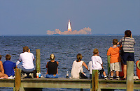 Space Shuttle Atlantis blastoff  at Kennedy Space Center, Titusville, FL, to begin the STS 112 mission in October 2002.  (Photo by Brian Cleary/www.bcpix.com)