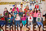 Children getting prepared for Christmas at the Childrens Craft fair in Castleisland Resource Centre on Saturday front row l-r: Michelle Burke, Katelyn O'Sullivan, Aoibhín Cotter, Rosie Douglas and Darcie Brook. Back row: Katie Cotter, John Daly, Evan Brennan, Susan O'Mahony, Catherine Horan, Laura Kelly, Marguerite Egan, Laura Daly, Saoirse Daly, Aine Murphy and Brid Fitzgerald