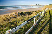 Early morning view of Wainui Beach near Gisborne New Zealand.