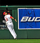 29 September 2009: Washington Nationals' fielder Mike Morse in action against the New York Mets at Nationals Park in Washington, DC. The Nationals rallied to defeat the Mets 4-3 in the second game of their final 3-game home series. Mandatory Credit: Ed Wolfstein Photo