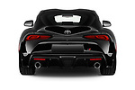 Straight rear view of 2020 Toyota GR-Supra Premium 2 Door Coupe Rear View  stock images
