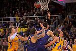 League ACB-ENDESA 2017/2018 - Game: 12.<br /> FC Barcelona Lassa vs Herbalife Gran Canaria: 77-88.<br /> Ondrej Balvin, Adrien Moerman, Ante Tomic &amp; Oriol Pauli.