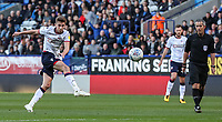 Bolton Wanderers' Joe Williams shoots at goal<br /> <br /> Photographer Andrew Kearns/CameraSport<br /> <br /> The EFL Sky Bet Championship - Bolton Wanderers v Blackburn Rovers - Saturday 6th October 2018 - University of Bolton Stadium - Bolton<br /> <br /> World Copyright © 2018 CameraSport. All rights reserved. 43 Linden Ave. Countesthorpe. Leicester. England. LE8 5PG - Tel: +44 (0) 116 277 4147 - admin@camerasport.com - www.camerasport.com