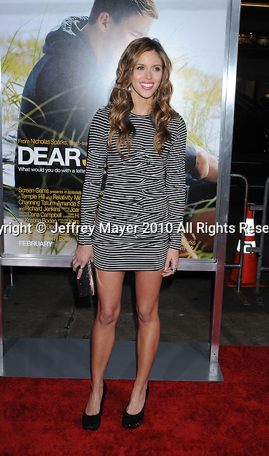 "HOLLYWOOD, CA. - February 01: Kayla Ewell arrives at the ""Dear John"" World Premiere held at Grauman's Chinese Theatre on February 1, 2010 in Hollywood, California."