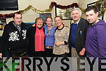 FOR AULD LANG SYNE!: Tom Woods, Carol Hillier, Kathleen Bowler, Joanna Rudzinska, Paddy Murphy and David Kearns, enjoying the New Year's Eve celebrations in O Murchú's Bar, Kenmare, on Monday.