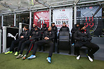 Zlatan Ibrahimovic of AC Milan pictured on the bench with team mates before the Serie A match at Giuseppe Meazza, Milan. Picture date: 6th January 2020. Picture credit should read: Jonathan Moscrop/Sportimage