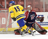 Mattias Hellstrom (MODO Hockey), Ian Keserich (Ohio State University - Colorado Avalanche)  The US Blue team lost to Sweden 3-2 in a shootout as part of the 2005 Summer Hockey Challenge at the National Junior (U-20) Evaluation Camp in the 1980 rink at Lake Placid, NY on Saturday, August 13, 2005.