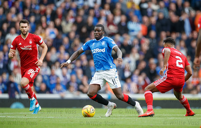 28.09.2018 Rangers v Aberdeen: Sheyi Ojo and Shay Logan