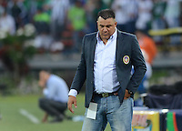 MEDELLÍN -COLOMBIA - 01-03-2015: Calixto Chiquillo técnico de Uniautónoma durante partido con Atletico Nacional por la fecha 7 de la Liga Aguila I 2015 jugado en el estadio Atanasio Girardot de la ciudad de Medellín./ Calixto Chiquillo coach of Uniautonoma during the match against Atletico Nacional for the  7th date of the Aguila League I 2015 at Atanasio Girardot stadium in Medellin city. Photo: VizzorImage/León Monsalve/STR