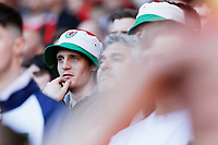 A Wales supporter watches the game during the UEFA EURO 2020 Qualifier match between Wales and Slovakia at the Cardiff City Stadium, Cardiff, Wales, UK. Sunday 24 March 2019