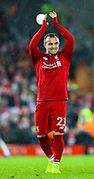 Liverpool's Xherdan Shaqiri celebrates after the game<br /> <br /> Photographer AlexDodd/CameraSport<br /> <br /> The Premier League - Liverpool v Manchester United - Sunday 16th December 2018 - Anfield - Liverpool<br /> <br /> World Copyright © 2018 CameraSport. All rights reserved. 43 Linden Ave. Countesthorpe. Leicester. England. LE8 5PG - Tel: +44 (0) 116 277 4147 - admin@camerasport.com - www.camerasport.com