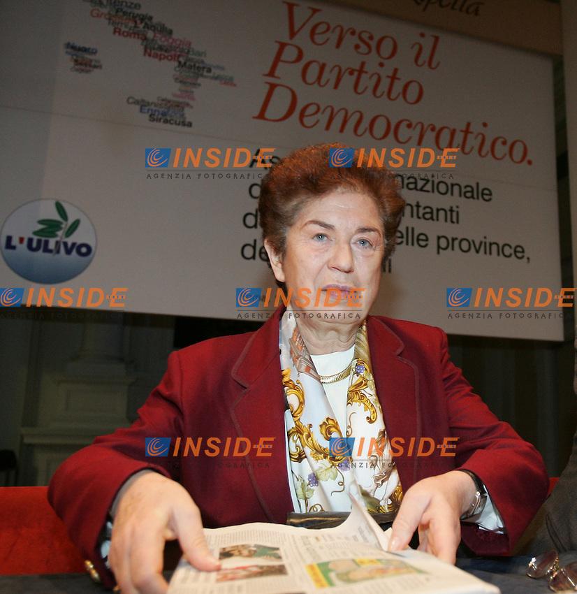 Roma, 11/12/2006<br /> <br /> Residenza di Ripetta, Verso il Partito Democratico.<br /> <br /> Assemblea nazionale dei rappresentanti delle citt&agrave;, delle provincie, delle regioni. CRESCITA E INNOVAZIONE:<br /> <br /> IL RUOLO DI COMUNI, PROVINCE, REGIONI. <br /> <br /> Nella foto:  Rosa Russo Iervolino Sindaco di Napoli.<br /> <br /> Photographer Antonietta Baldassarre INSIDE<br /> <br /> sito Web www.Insidefoto.com