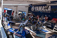 Yamaha box at Spanish Motocross Championship at Albaida circuit (Spain), 22-23 February 2014