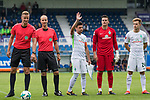 16.07.2017, Stadion an der Bremer Bruecke, Osnabrueck, GER, FSP VfL Osnabrueck vs SV Werder Bremen<br /> <br /> im Bild<br /> Arne Aarnink (Schiedsrichter / referee), Franz Bokop (Linienrichter / referee), Zlatko Junuzovic (Werder Bremen #16) winkt Fans zu, Michael Zetterer (Werder Bremen #30), Johannes Eggestein (Werder Bremen #24), <br /> <br /> Foto &copy; nordphoto / Ewert