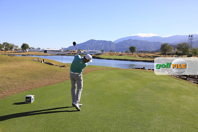 Zach Johnson (USA) tees off the 18th tee during Saturday's Round 3 of the 2017 CareerBuilder Challenge held at PGA West, La Quinta, Palm Springs, California, USA.<br /> 21st January 2017.<br /> Picture: Eoin Clarke | Golffile<br /> <br /> <br /> All photos usage must carry mandatory copyright credit (&copy; Golffile | Eoin Clarke)