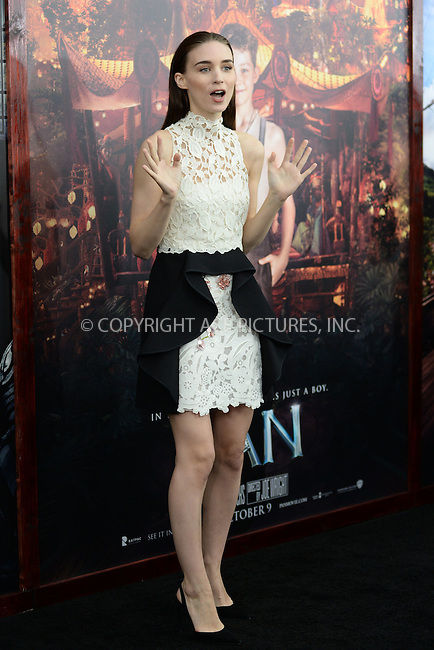 WWW.ACEPIXS.COM<br /> October 4, 2015 New York City<br /> <br /> Rooney Mara attending the 'Pan' New York Premiere arrivals at Ziegfeld Theater on October 4, 2015 in New York City.<br /> <br /> Credit: Kristin Callahan/ACE Pictures<br /> <br /> Tel: (646) 769 0430<br /> e-mail: info@acepixs.com<br /> web: http://www.acepixs.com