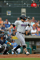 Winston-Salem Dash first baseman Gavin Sheets (24) at bat during a game against the Myrtle Beach Pelicans at Ticketreturn.com Field at Pelicans Ballpark on July 23, 2018 in Myrtle Beach, South Carolina. Winston-Salem defeated Myrtle Beach 6-1. (Robert Gurganus/Four Seam Images)