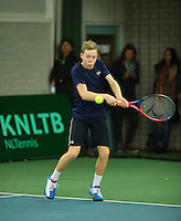 Rotterdam, The Netherlands, March 13, 2016,  TV Victoria, NOJK 12/16 years, Lodewijk Weststrate (NED)<br /> Photo: Tennisimages/Henk Koster