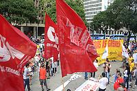 RIO DE JANEIRO, RJ, 31 JULHO 2012 - MANIFESTACAO DOS SERVIDORES FEDERAIS EM GREVE-Manifestacao dos Servidores Publicos Federais em greve na Candelaria, nesta terca-feira, dia 31, no centro do rio.(FOTO:MARCELO FONSECA / BRAZIL PHOTO PRESS).