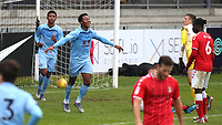 Ali Koiki celebrates scoring Burnley U23's second goal during Charlton Athletic Under-23 vs Burnley Under-23, Professional Development League Football at Princes Park on 9th September 2019