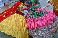 Grupo folclórico de maracatu. São Paulo. 2006. Foto de Juca Martins.