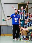 Stockholm 2013-11-10 Handboll Elitserien Hammarby IF - Eskilstuna Guif :  <br /> Hammarby tr&auml;nare Kalle Matsson och Hammarby 7 Patrik Lindblad reagerar vid avbytarb&auml;nken<br /> (Foto: Kenta J&ouml;nsson) Nyckelord: