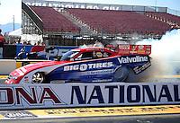Feb. 17 2012; Chandler, AZ, USA; NHRA funny car driver Johnny Gray during qualifying for the Arizona Nationals at Firebird International Raceway. Mandatory Credit: Mark J. Rebilas-