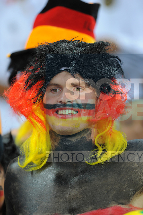German fans dressed up for their first game in the 2010 World Cup