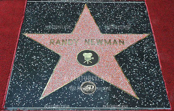 Composer Randy Newman was honored today with a star on the Hollywood Walk of Fame..June 2, 2010  Los Angeles, CA.Picture: Paul Smith / Featureflash
