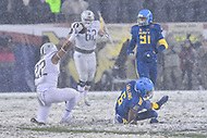 PHILADELPHIA, PA - DEC 9, 2017: Army Black Knights running back Calen Holt (22) catches one of only a few passes thrown in the game during game between Army and Navy at Lincoln Financial Field Philadelphia, PA. Army defeated Navy 14-13 to win the Commander in Chief Cup. (Photo by Phil Peters/Media Images International)