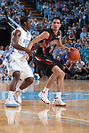 03 February 2009: Maryland Terrapins guard Greivis Vasquez (21) during a 108-91 loss to the North Carolina Tar Heels at the Dean Smith Center in Chapel Hill, NC.
