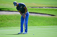 Martin Kaymer (GER) watches his putt on 1 during round 1 of the World Golf Championships, Mexico, Club De Golf Chapultepec, Mexico City, Mexico. 3/2/2017.<br /> Picture: Golffile | Ken Murray<br /> <br /> <br /> All photo usage must carry mandatory copyright credit (&copy; Golffile | Ken Murray)