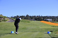 Shane Lowry (IRL) tees off the 8th tee during Sunday's Final Round of the 2018 AT&amp;T Pebble Beach Pro-Am, held on Pebble Beach Golf Course, Monterey,  California, USA. 11th February 2018.<br /> Picture: Eoin Clarke | Golffile<br /> <br /> <br /> All photos usage must carry mandatory copyright credit (&copy; Golffile | Eoin Clarke)